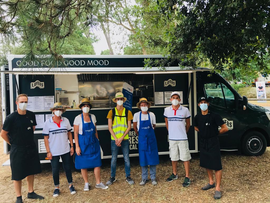 Food truck Layers Labenne Landes partenaire Vinci Autoroutes
